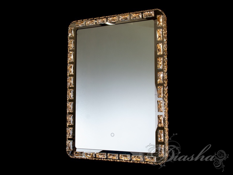 Прямокутне дзеркало з вбудованим підсвічуванням і сенсорним управлінням B2836-700x500