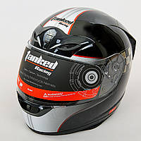 Мотошлем интеграл (full face) со съемным утеплителем Tanked Racing T112-2 (ABS, размер L-XL-58-62, черный-красный)