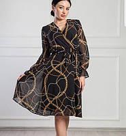 Красивое платье с модным принтом (42-46)