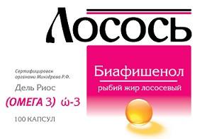 Биафишенол Рыбий жир (лососевый) 0,3г №100капс (БАД)