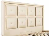 Кровать Richman Виндзор 140 х 200 см Флай 2207 С подъемным механизмом и нишей для белья Бежевая, фото 6