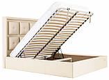 Кровать Richman Виндзор 140 х 200 см Флай 2207 С подъемным механизмом и нишей для белья Бежевая, фото 7