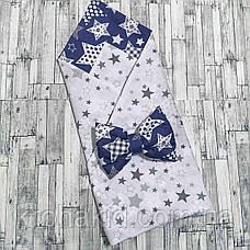 Детский летний конверт на выписку двусторонний, конверт-одеяло (ВЕСНА / ЛЕТО), конверт-плед для новорожденного, фото 2