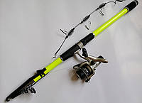 Рыболовный набор, комплект снастей для рыбалки (удочка телескоп, катушка, леска, снасть на карася)