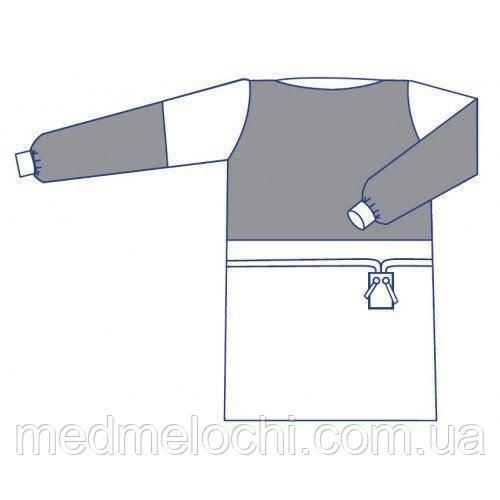 Халат Комфорт з ламінованими вставками стерильний, розмір XL (Спанлейс)