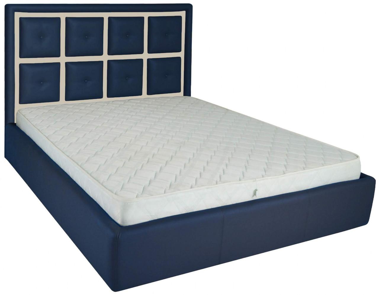 Кровать Двуспальная Richman Виндзор 180 х 190 см Флай 2227/2207 Синяя+Бежевая