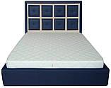 Кровать Двуспальная Richman Виндзор 180 х 190 см Флай 2227/2207 Синяя+Бежевая, фото 2