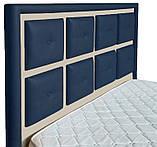 Кровать Двуспальная Richman Виндзор 180 х 190 см Флай 2227/2207 Синяя+Бежевая, фото 3