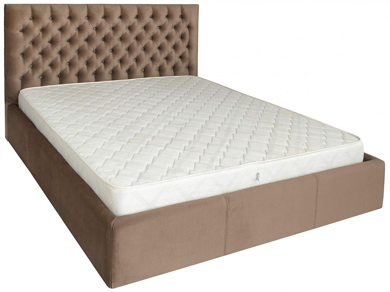 Кровать Richman Кембридж 120 х 190 см Missoni 04 С подъемным механизмом и нишей для белья Светло-коричневая