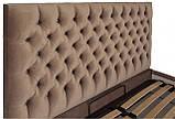 Кровать Richman Кембридж 120 х 190 см Missoni 04 С подъемным механизмом и нишей для белья Светло-коричневая, фото 3