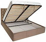 Кровать Richman Кембридж 120 х 190 см Missoni 04 С подъемным механизмом и нишей для белья Светло-коричневая, фото 4