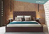 Кровать Richman Кембридж 120 х 190 см Missoni 04 С подъемным механизмом и нишей для белья Светло-коричневая, фото 8