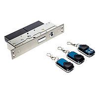 Автономный, радиоуправляемый, врезной замок невидимка interVision ULTRA-3BLOCK