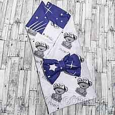 Детский летний конверт на выписку двусторонний, конверт-одеяло (ВЕСНА / ЛЕТО), конверт-плед для новорожденного, фото 3