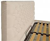 Кровать Richman Кембридж 120 х 200 см Мисти Milk A1 С подъемным механизмом и нишей для белья Бежевая, фото 3