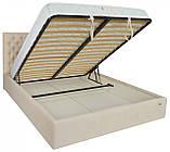 Кровать Richman Кембридж 120 х 200 см Мисти Milk A1 С подъемным механизмом и нишей для белья Бежевая, фото 4