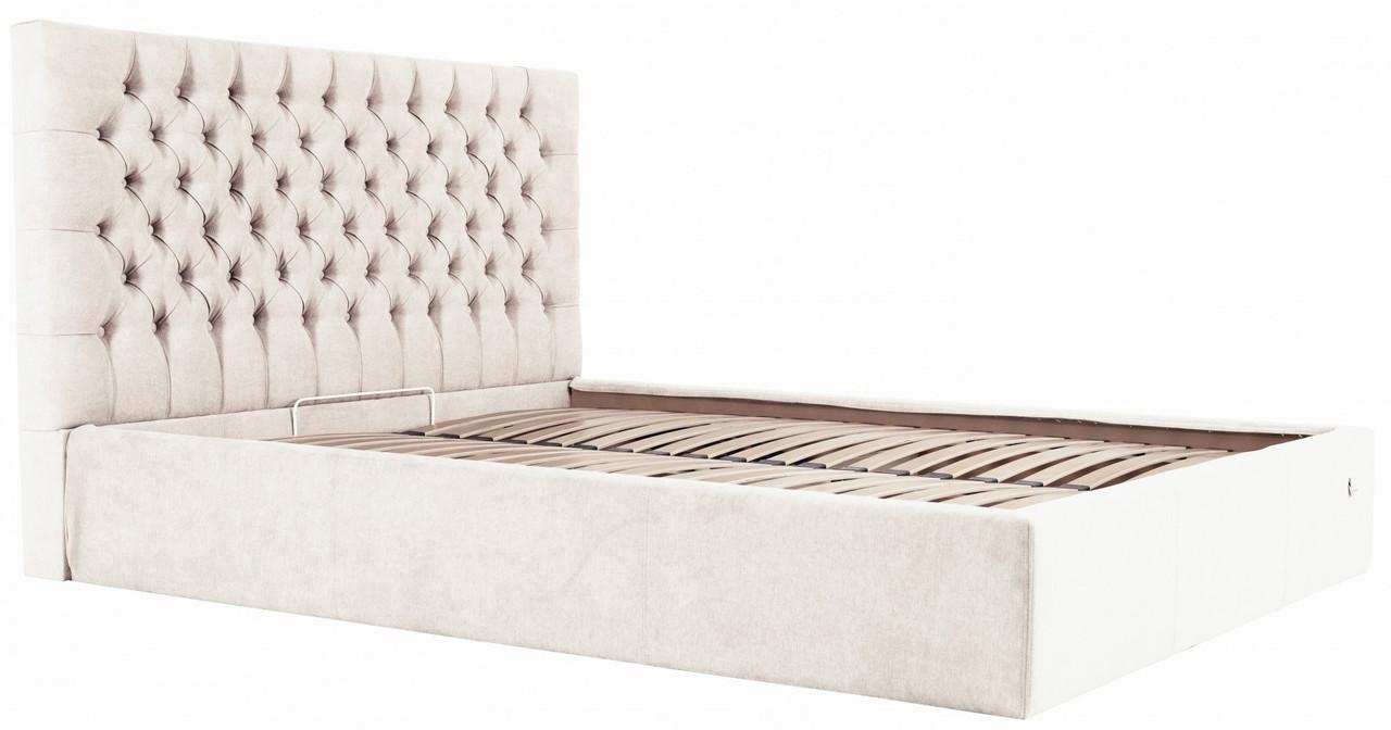 Кровать Cambridge Comfort 120 х 200 см Мисти Milk С подъемным механизмом и нишей для белья Бежевая