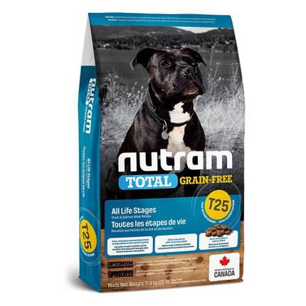 Сухой корм T25 Nutram Total Grain-Free Salmon & Trout беззерновой для собак, с лососем и форелью, 2 кг, фото 2
