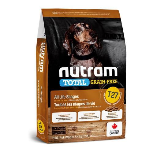 Сухой корм T27 Nutram Total Small Breed беззерновой для мелких пород собак, с индейкой и курицей, 2 кг