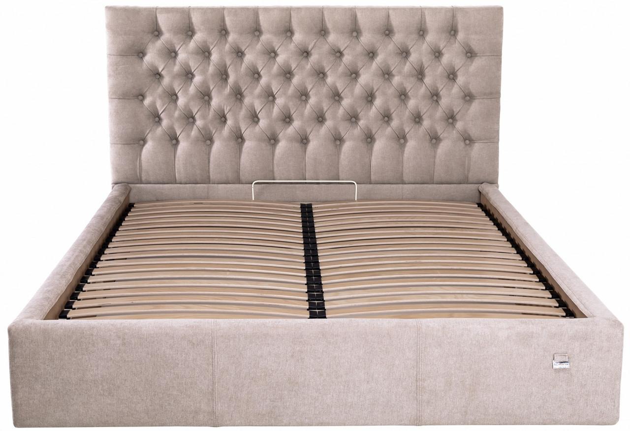 Ліжко Richman Кембридж 140 х 190 см Місті Mocoo З підйомним механізмом і нішею для білизни Сіра