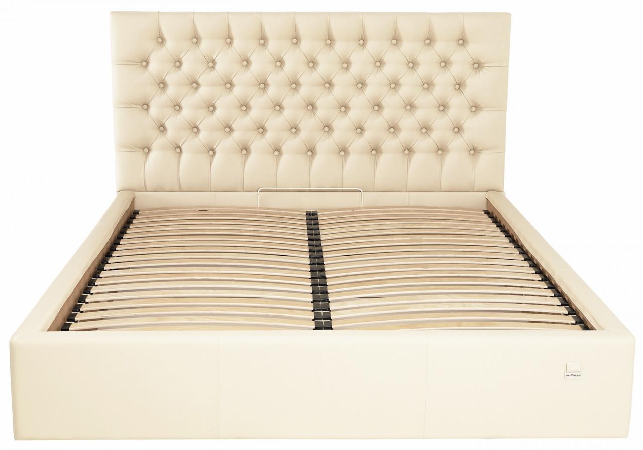 Кровать Richman Кембридж 140 х 190 см Флай 2207 С подъемным механизмом и нишей для белья Бежевая