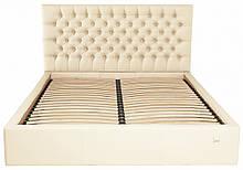 Кровать Cambridge Comfort 140 х 190 см Флай 2207 С подъемным механизмом и нишей для белья Бежевая