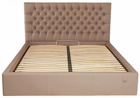 Кровать Cambridge Comfort 140 х 190 см Fly 2213 С подъемным механизмом и нишей для белья Светло-коричневая