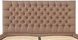 Кровать Richman Кембридж 140 х 190 см Флай 2213 С подъемным механизмом и нишей для белья Светло-коричневая, фото 5
