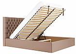 Кровать Richman Кембридж 140 х 190 см Флай 2213 С подъемным механизмом и нишей для белья Светло-коричневая, фото 7