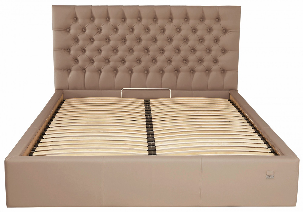 Кровать Cambridge Standard 140 х 190 см Флай 2213 Светло-коричневая