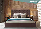 Кровать Cambridge Standard 140 х 190 см Флай 2213 Светло-коричневая, фото 9