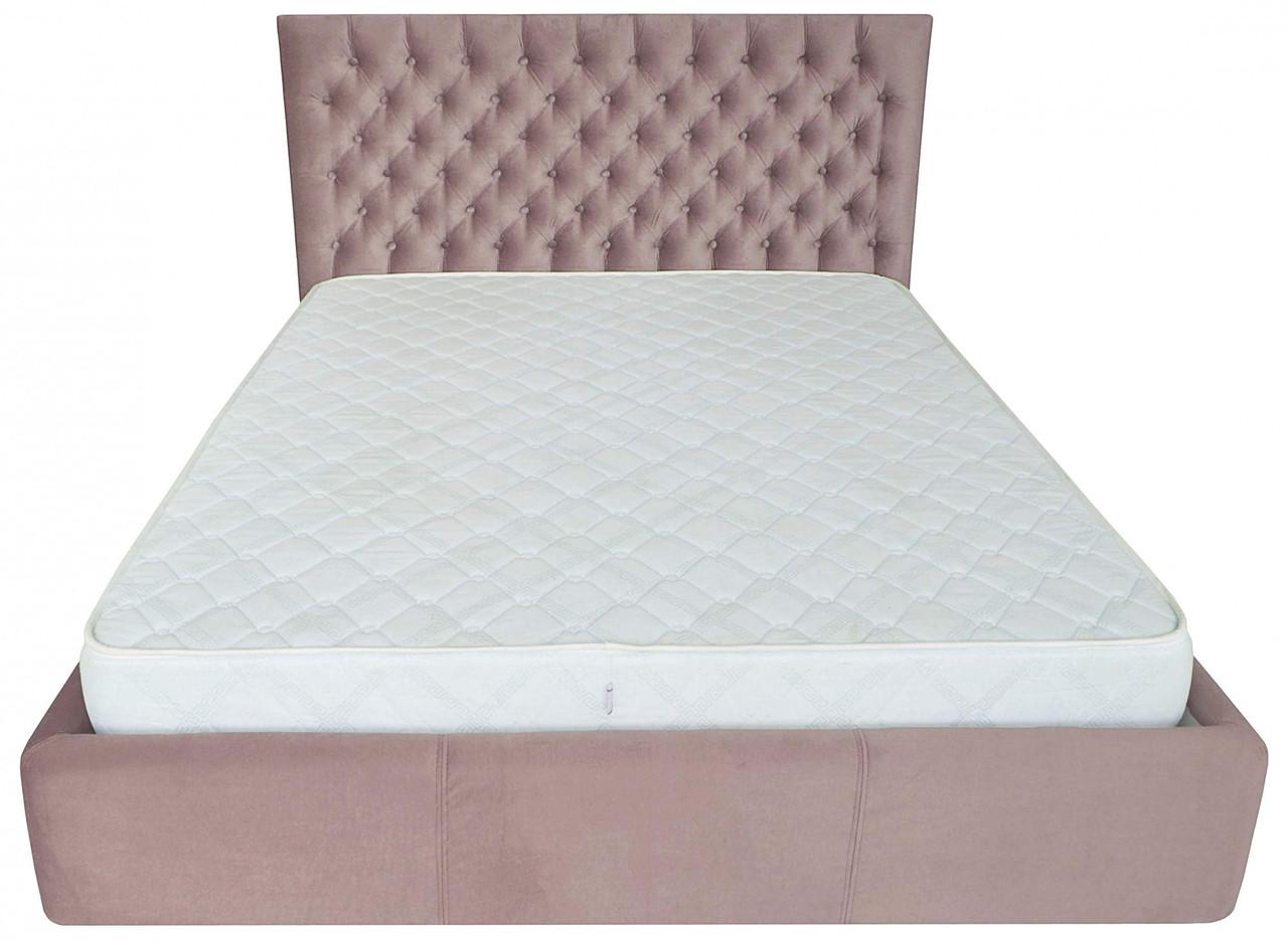 Кровать Richman Кембридж 140 х 200 см Missoni 021 С подъемным механизмом и нишей для белья Темно-розовая