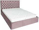 Кровать Richman Кембридж 140 х 200 см Missoni 021 С подъемным механизмом и нишей для белья Темно-розовая, фото 2
