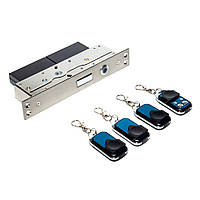 Автономный, радиоуправляемый, врезной замок невидимка interVision ULTRA-4BLOCK