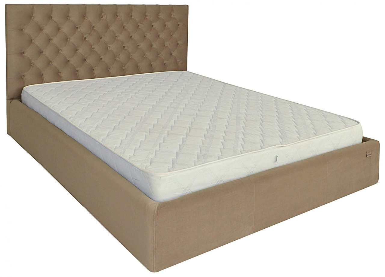 Кровать Двуспальная Richman Кембридж 160 х 190 см Альмира 02 С подъемным механизмом и нишей для белья Кофе