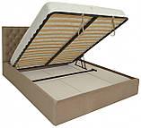Кровать Двуспальная Richman Кембридж 160 х 190 см Альмира 02 С подъемным механизмом и нишей для белья Кофе, фото 4