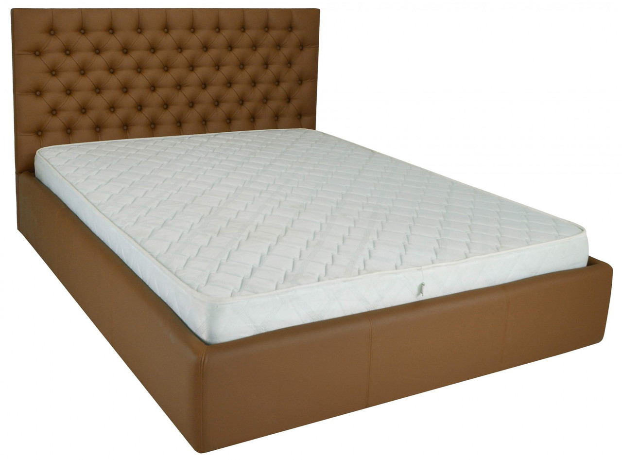 Кровать Двуспальная Richman Кембридж 160 х 190 см Флай 2213 A1 Светло-коричневая