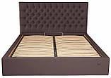 Кровать Двуспальная Richman Кембридж 160 х 190 см Флай 2231 Темно-коричневая, фото 2