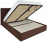 Кровать Двуспальная Richman Кембридж 160 х 200 см Мисти Chocolate С подъемным механизмом и нишей для белья, фото 4