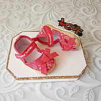 Летние коттоновые пинетки босоножки, фото 1