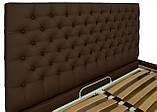 Кровать Двуспальная Richman Кембридж 160 х 200 см Флай 2231 A1 Темно-коричневая, фото 4