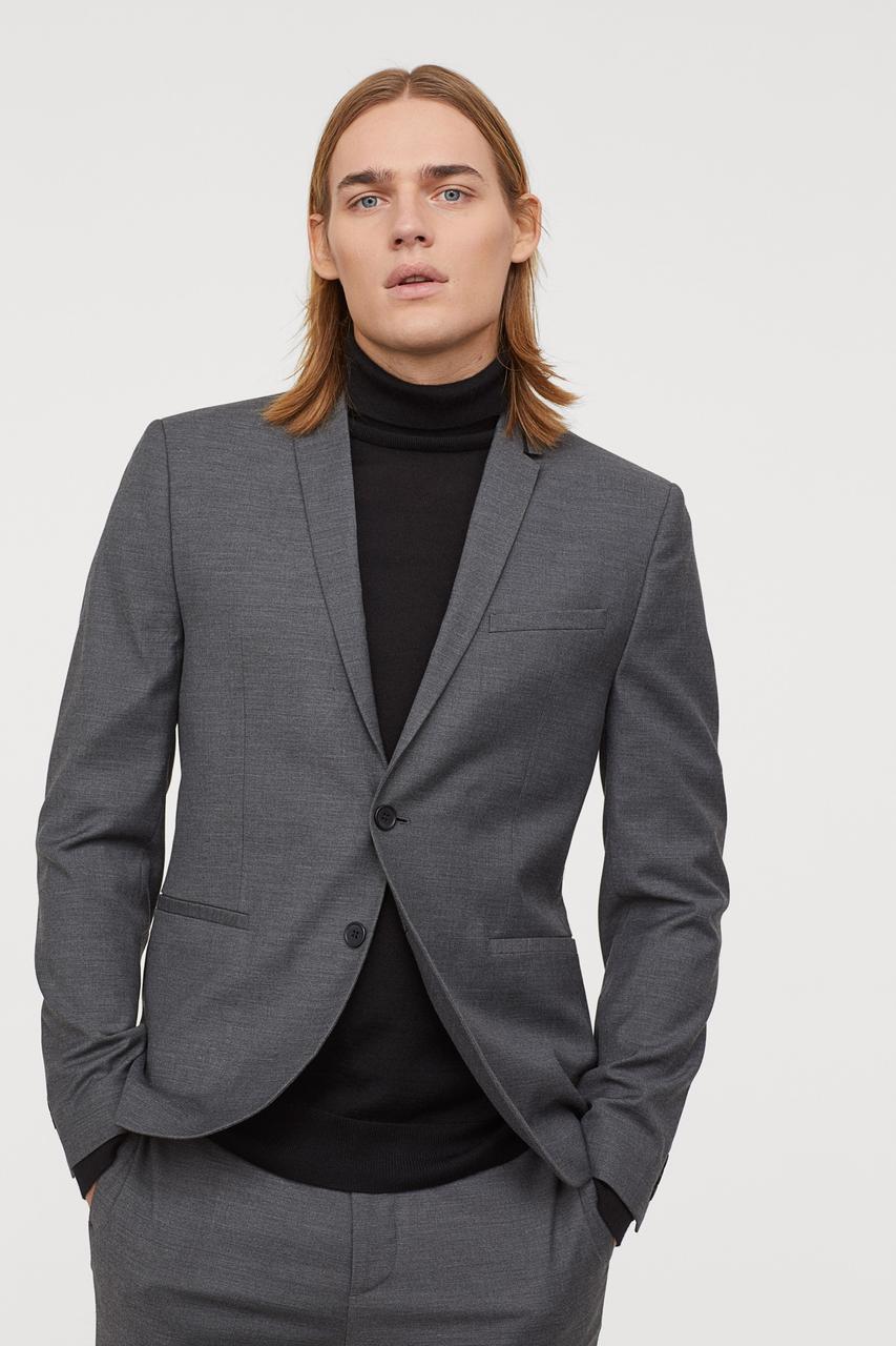 Пиджак H&M 0593773 XS Серый