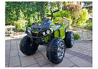 Детский квадроцикл M 3156 EBLR-10, колеса EVA, кожаное сиденье, темно-зеленый
