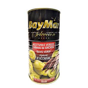 Оливки BayMar фаршировані анчоусом Gigante Rellena 1400/600 г, 6 шт/ящ