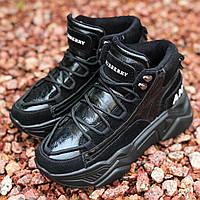 Кроссовки женские Burberry черные (Top replic)