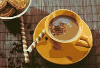"Картина Холст по номерам 40*50 см ""Утренний кофе"" рама+краски+кисти"