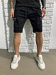 😜 Шорти - Чоловічі шорти чорні з блискавкою на кишені, фото 2