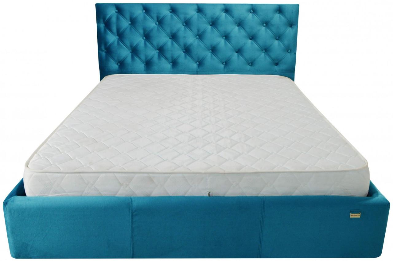 Кровать Richman Ковентри 140 х 190 см Missoni 016 С подъемным механизмом и нишей для белья Голубая