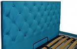Кровать Richman Ковентри 140 х 190 см Missoni 016 С подъемным механизмом и нишей для белья Голубая, фото 3