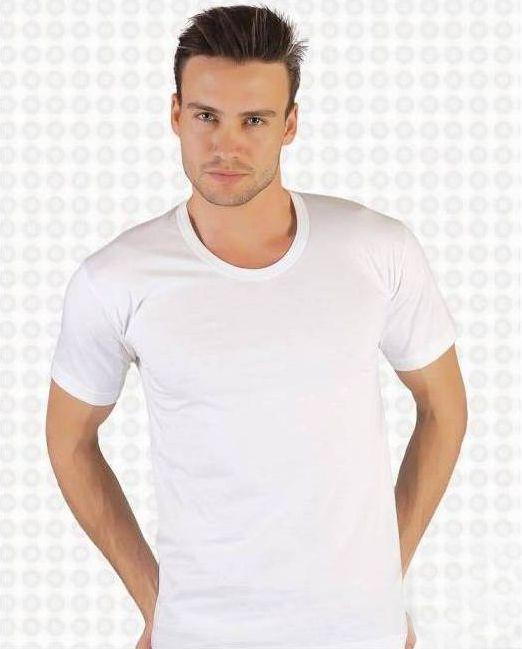Футболка мужская с коротким рукавом, круглая горловаина,  х/б, TUTKU (размер 2)